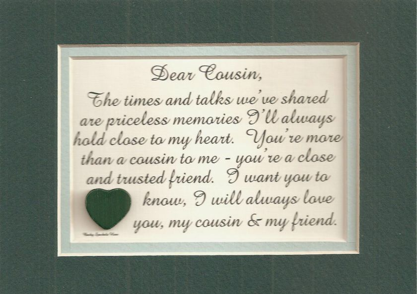 Family COUSINs Trusted FRIEND Share verses poem plaques