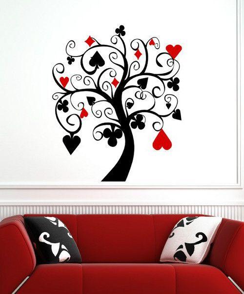 Ƹ̵̡Ӝ̵̨̄Ʒ POKER TREE Wall Decal Art Stickers Decor