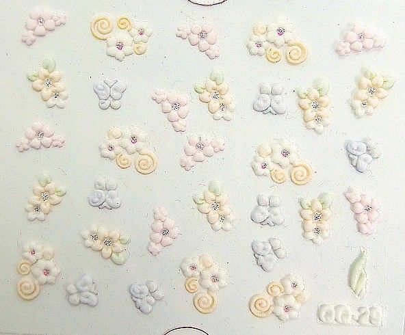 NAIL ART/STICKERS/DECALS /HELLO KITTY/SHOOTING HEARTS/STARS 19