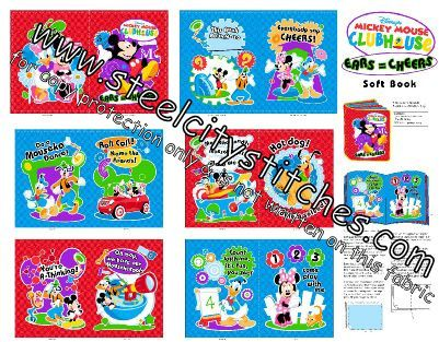 Disney Mickey Mouse Clubhouse Storybook Fabric PANEL
