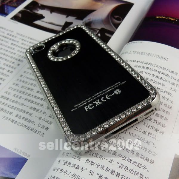 Luxury Designer Bling Diamonds Case Cover For iPhone 4