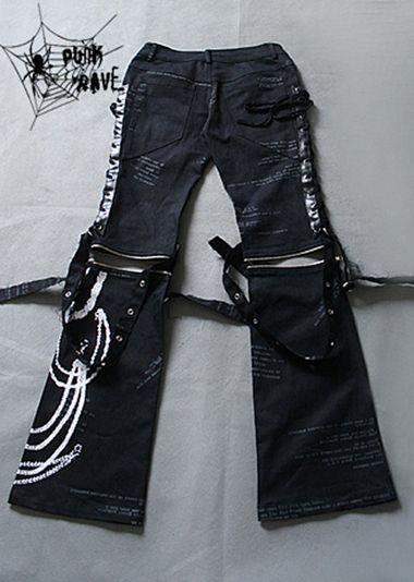 Lolita Kera VISUAL KEI PUNK GOTHIC Pants EMO NANA S,M,L,XL,XXL