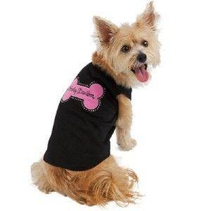 Harley Davidson Black Tank Top Dog Shirt Pink Bone XS